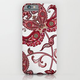 The Cannibal's Burgundy Paisley Tie iPhone Case