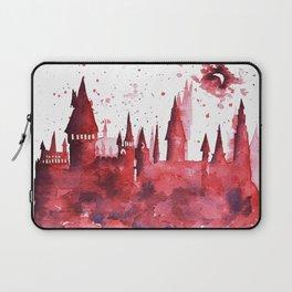 Hogwarts Watercolor Silhouette Laptop Sleeve