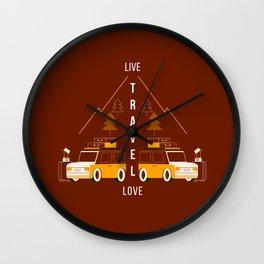 Live Travel Love Wall Clock