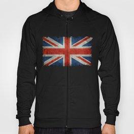 """UK Union Jack flag """"Bright"""" retro grungy style Hoody"""