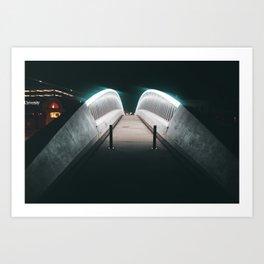 Neon Bridge Art Print