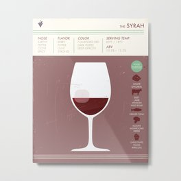 Syrah Wine Art Print Metal Print