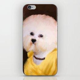 Chic Bichon Frise iPhone Skin