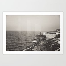 Once Upon A Time by the Sea Art Print