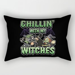 Chillin With My Witches Halloween Funny Rectangular Pillow