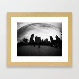 chicago cloud gate Framed Art Print