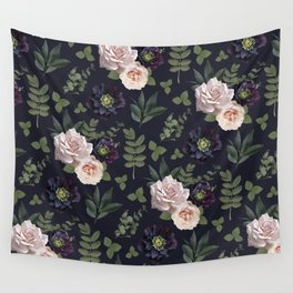 Pressed Floral Plum Wall Tapestry