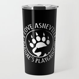 I Love Asheville - Black Bear - AVL 15 Black Travel Mug