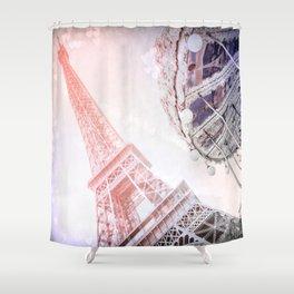 I Dream of Paris Pink Shower Curtain