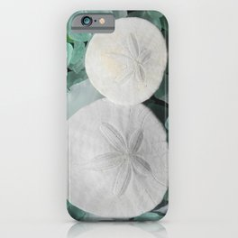Sand dollars and seaglass iPhone Case
