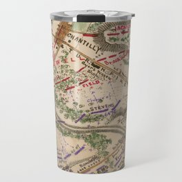 Vintage Map of The Battle of Chantilly (1865) Travel Mug