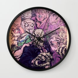 Miedo & SciFi Tales: Unfamous Monsters Wall Clock