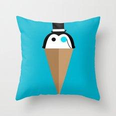 Peppermint Penguin Throw Pillow