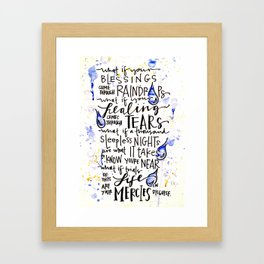 Blessings Framed Art Print