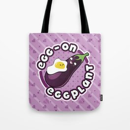 EGG-ON EGGPLANT Tote Bag