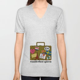 Wanderlust Queen Unisex V-Neck