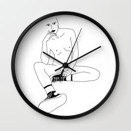 A Womans Stare Wall Clock
