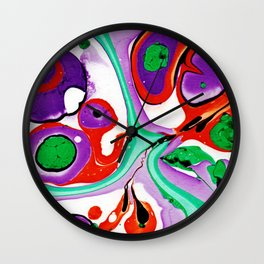 Abstract #10: Cell Dance Wall Clock