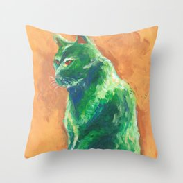 Green stalker #2 Throw Pillow