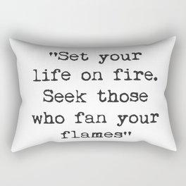 Rumi quote 1 Rectangular Pillow