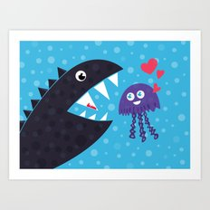 Impossible love Art Print