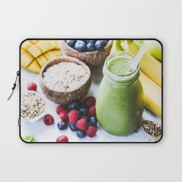 fresh smoothie with fruits, berries, oats and seed Laptop Sleeve