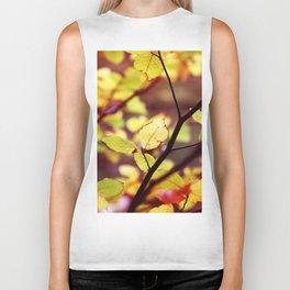autumn leaf 3 Biker Tank