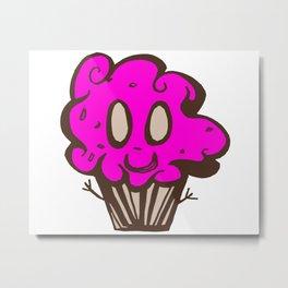 Happy Cupcake Metal Print