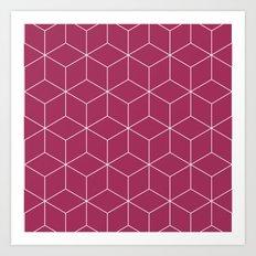 Cubes pink Art Print