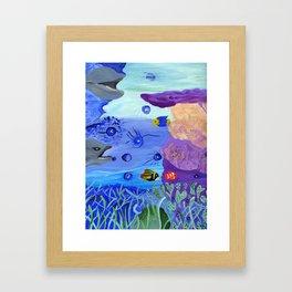 A World Below Framed Art Print
