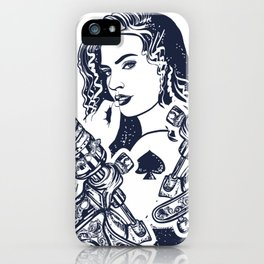 Queen playing card iPhone Case