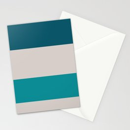 A fantastic harmony of Rouge, Pastel Pink, Silver, Dark Cyan and Philippine Indigo stripes. Stationery Cards