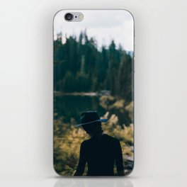 Girl in the Woods iPhone Skin