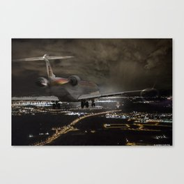 Wind 360 20 kts clear to land Canvas Print