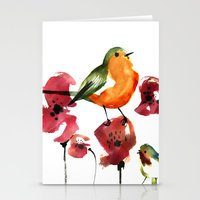 robin Stationery Cards featuring ROBIN by genie espinosa