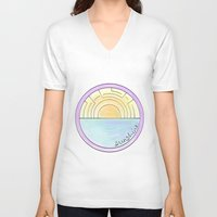 sunshine V-neck T-shirts featuring Sunshine by Hope Palattella