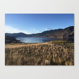 Clear Day by Kamploops Lake Canvas Print