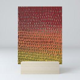 Shredded sunset Mini Art Print