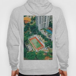Tennis Court City View (Color) Hoody