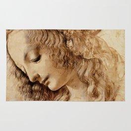 """Leonardo da Vinci """"Woman's head"""" 3. Rug"""