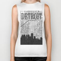 detroit Biker Tanks featuring DETROIT by Rustic Refresh
