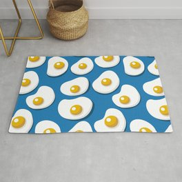 Fried eggs food pattern Rug