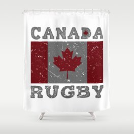 Canada Rugby Shirt for Men Women Kids Canadian Flag Shower Curtain