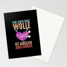 Knitting Crochet And Creative Needlework Stationery Cards