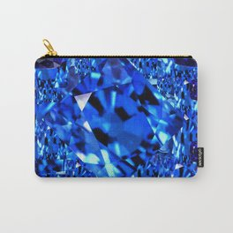 AWESOME SEPTEMBER BLUE  SAPPHIRES GEM BIRTHSTONE ART Carry-All Pouch