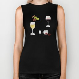 It's Wine O'Clock Biker Tank