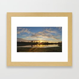 Inbetween Country and Paradise Framed Art Print
