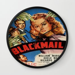 Vintage poster - Blackmail Wall Clock