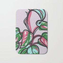 Philodendron Pink Princess Bath Mat