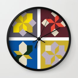 Modern Blocks Wall Clock